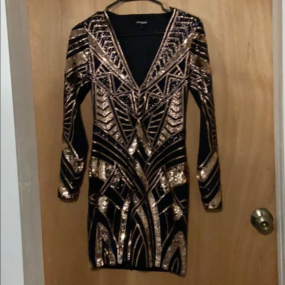 Express Dresses & Skirts - Sequin Party Dress
